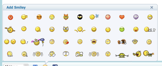 flash chat smileys