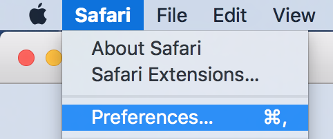 safari preferences
